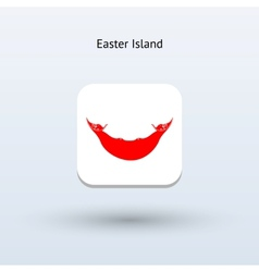 Easter island flag icon vector