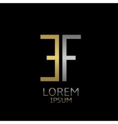 EF letters logo vector image vector image