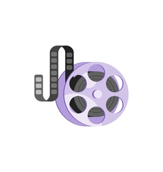 flat style of vintage old cinema clip Isolated on vector image