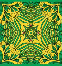 Floral decorative green ornament vector