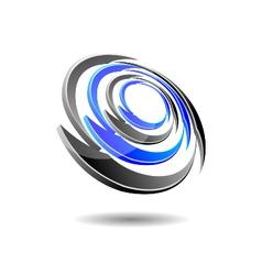 Futuristic orbit logo vector