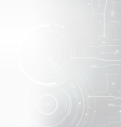 hi-tech shiny circuit background vector image