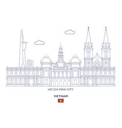 Ho chi minh city skyline vector