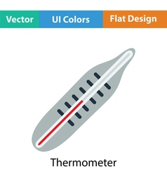Medical thermometer icon vector image vector image