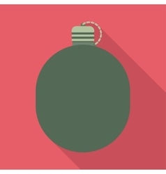Military flask drink bottle container vector