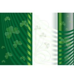 Options for postcards Saint Patrick vector image vector image