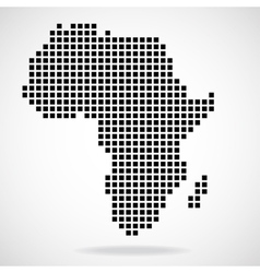 Pixel map of africa vector