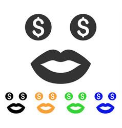 prostitute smile icon vector image vector image