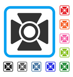 Searchlight framed icon vector