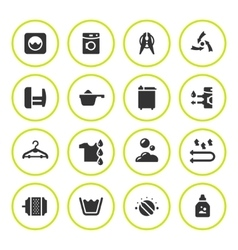 Set round icons of laundry vector image vector image