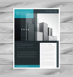 Stylish modern brochure design template vector