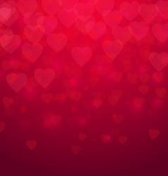 Valentines day Red hearts background vector image vector image