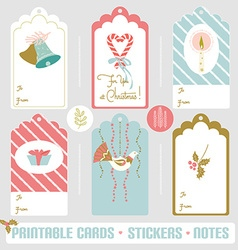 Winter card set vector image vector image