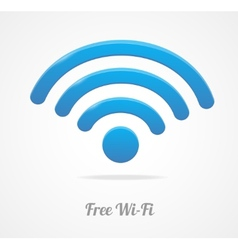 Wireless network symbol wifi icon vector