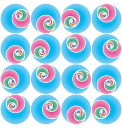 seamless circles pattern vector image