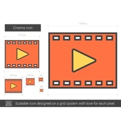 Cinema line icon vector