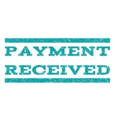 Payment received watermark stamp vector