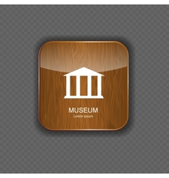 Museum application icons vector