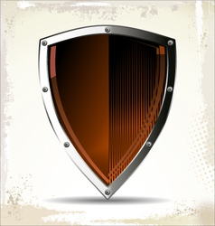 Orange shield vector