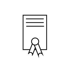 education diploma univercity icon vector image