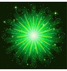 Firework green vector