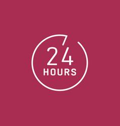24 hours customer service vector