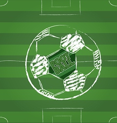 Sketch soccer football vector