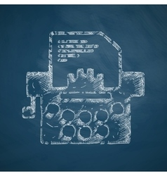 Typewriter icon vector