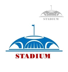 Blue sport stadium complex icon vector