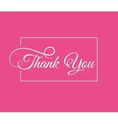 Thank you card vector