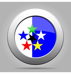 Metal button - flags of the world vector