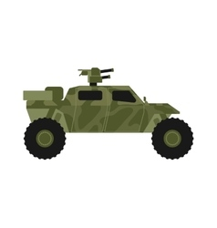 Military jeep vector