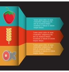 Infographic icon nutrition and organic food vector