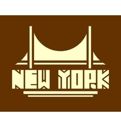 New york city name creative typography poster vector