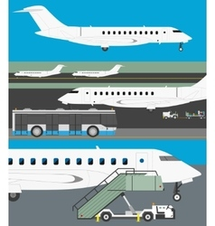 Airport set vector