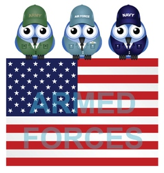 ARMED FORCES USA vector image