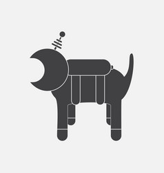 Black icon on white background space dog vector