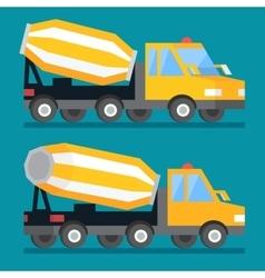 Building construction concrete mixer truck Cement vector image
