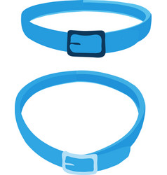Cat collar on white background vector