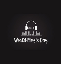 Celebration world music day flat vector