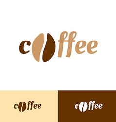 Coffee word logo vector