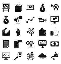 digital icons set simple style vector image