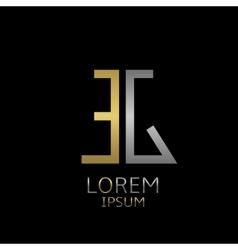 EG letters logo vector image vector image