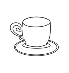 figure cup with plate icon vector image