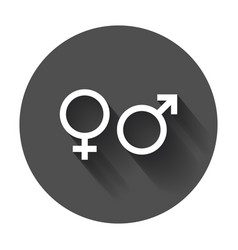 Gender sign icon men and woomen concept icon with vector