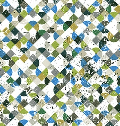 Geometric abstract seamless pattern colorful worn vector