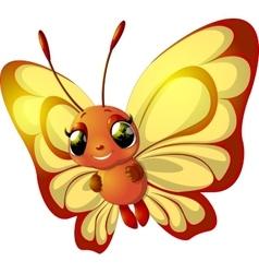 Grunge rainbow butterfly vector