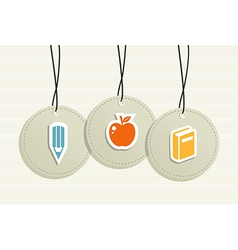 Hanging school badges elements vector