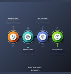 infographic design template with 4 lettered vector image vector image