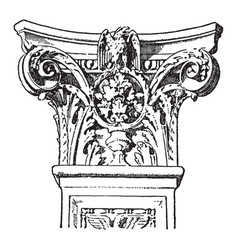 Italian renaissance capital nobile vintage vector